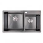 Кухонная мойка Imperial S7843BL PVD black Handmade 2.7/1.0 mm IMPS7843BRPVDH10 черная сталь