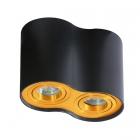 Точечный светильник накладной Azzardo Bross 2 AZ2956 золото, черный