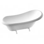 Отдельностоящая ванна из литого мрамора Fancy Marble Lady Hamilton (Romance) с белыми ножками в цветах RAL