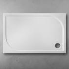 Душевой поддон из литого мрамора Fancy Marble Pacific 1000х700 60100101 белый + ножки + панель + сифон