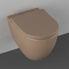 Подвесной безободковый унитаз Isvea Colorisvea Opaque 10NF02001|2H-Taupe коричневый