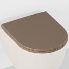 Сидение для унитаза softclose Isvea Colorisvea Opaque 40KF0531I-S коричневое