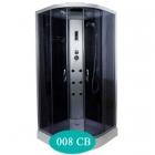 Гидромассажный бокс Delfi 008СB задние стенки черные, дверцы стекло графит, профиль сатин