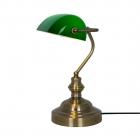 Настольная лампа Zuma Line Edes T110810 Бронза, Зеленая