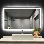 Смарт-зеркало с LED-подсветкой и часами Dusel DE-M3051 80x60