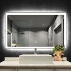 Смарт-зеркало с LED-подсветкой и часами Dusel DE-M3051 100x75