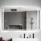 Смарт-зеркало с LED-подсветкой и часами Dusel DE-M3031 100х75