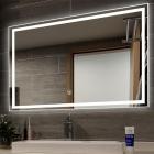 Смарт-зеркало с LED-подсветкой Dusel DE-M0061S1 100х75 рамка серебро