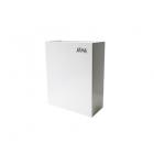Урна для мусора 6 л АТМА S-LINE, M-106W, металл белый, напольная-навесная, крепеж в комплекте