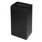 Урна для мусора 47 л ATMA S-LINE, M-147Black, металл черный, напольная, съемная верхняя крышка