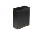 Урна для мусора 6 л АТМА S-LINE, M-106Black, металл черный, напольная-навесная, крепеж в комплекте