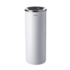 Урна для мусора 25 л с крышкой и держателем мешка АТМА R-LINE, M-825W, металл белый
