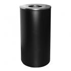 Урна для мусора 84 л с крышкой и держателем мешка АТМА R-LINE, M-884Black, металл чёрный