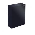 Урна для мусора 16 л ATMAS-LINE, M-116Black, металл черный, напольная-навесная, крепеж в комплекте