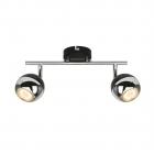 Спот на два светильника Zuma Line Gaster GU16016-2TU-BK Черный, Хром
