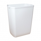 Урна для мусора 43 л Mar Plast PRESTIGE A74101, пластик белый, напольно-навесная, планка в комплекте