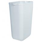 Урна для мусора 23 л Mar Plast PRESTIGE A74201, пластик белый, напольно-навесная, крепление в комплекте