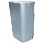Урна для мусора 23 л Mar Plast PRESTIGE A74201SAT, пластик сатин, напольно-навесная, крепление в комплекте