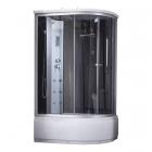 Душевой бокс Q-tap SBM12080.2L SAT профиль сатин, стекло черное