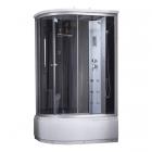 Душевой бокс Q-tap SBM12080.2R SAT профиль сатин, стекло черное