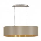 Светильник подвесной Eglo MASERLO 31613, серо-коричневый