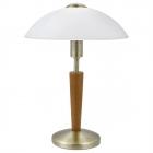 Настольная лампа Eglo Solo 1 87256 сталь, дерево, матовое стекло