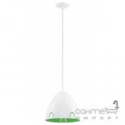 Люстра Eglo Frassi 92732 хай-тек, модерн, белый, зеленый, сталь