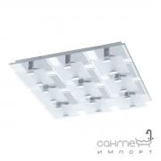 Светильник настенно-потолочный Eglo Vicaro 93315 хай-тек, модерн, матовое стекло, сталь, белый, прозрачный, хром