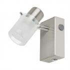 Светильник настенно-потолочный спот Eglo Orvieto 1 93701 хай-тек, модерн, матовое стекло, сатиновый никель, белый