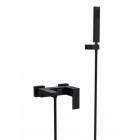 Смеситель для ванны с душевым гарнитуром Besco Modern Varium 1 матовый черный