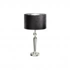 Настольная лампа Eglo Pasiano 94084 хрусталь, сталь, ткань, хром, прозрачный, черный, золотой