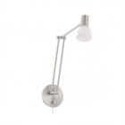 Светильник бра настенный Eglo Falko 1 94149 хай-тек, модерн, сталь, матовое стекло, белое покрытие, сатиновый никель