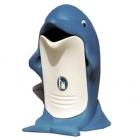Урна уличная Glasdon Splash G601 в форме дельфина, белая/синяя
