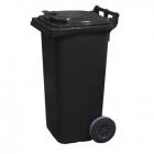 Контейнер для мусора 120л с двумя колесами Jcoplastic J0120 DGDG серый