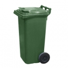 Контейнер для мусора 120л с двумя колесами Jcoplastic J0120 GNGN зеленый