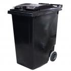 Контейнер для мусора 360л с двумя колесами Jcoplastic J0360 DGDG серый