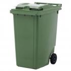 Контейнер для мусора 360л с двумя колесами Jcoplastic J0360 GNGN зеленый