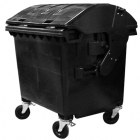 Контейнер для мусора 1100л с четырьмя колесами Jcoplastic J11100 DGDG серый