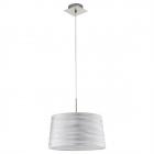 Люстра Eglo Fonsea 94307 арт-деко, сталь, ткань, сатиновый никель, серебряный