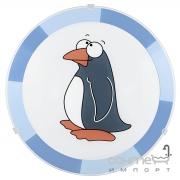 Светильник настенно-потолочный Eglo Biubiu 94457 хай-тек, модерн, сталь, стекло, белый, рисунок пингвин, для детской