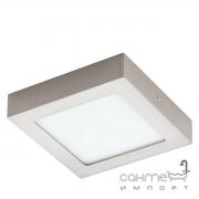 Светильник точечный Eglo Fueva 1 94524 хай-тек, модерн, литой металл, сатиновый никель, белый, пластик