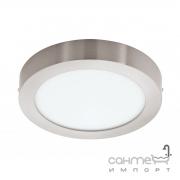 Светильник точечный Eglo Fueva 1 94527 хай-тек, модерн, литой металл, сатиновый никель, белый, пластик