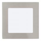 Светильник точечный Eglo Fueva 1 94522 хай-тек, модерн, литой металл, сатиновый никель, белый, пластик