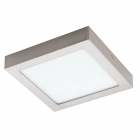 Светильник точечный Eglo Fueva 1 94526 хай-тек, модерн, литой металл, сатиновый никель, белый, пластик