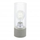 Настольная лампа Eglo Torvisco 1 94549 лофт, сталь, стекло, белый, прозрачный