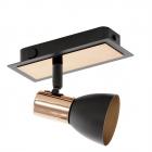 Светильник настенно-потолочный спот Eglo Barnham 94584 хай-тек, модерн, сталь, черный, медный