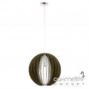 Люстра Eglo Cossano 94636 сатиновый никель, темно-коричневый, дерево, сталь