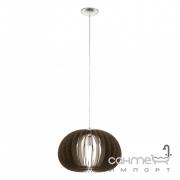 Люстра Eglo Cossano 94638 сатиновый никель, темно-коричневый, дерево, сталь