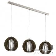 Люстра Eglo Cossano 94641 сатиновый никель, темно-коричневый, дерево, сталь