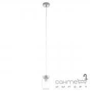 Люстра Eglo Varmo 94669 лофт, рифленое стекло, сатиновый никель, прозрачный